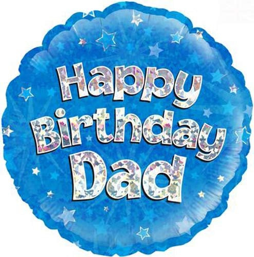 Happy Birthday Dad Blue Helium Filled Foil Balloon
