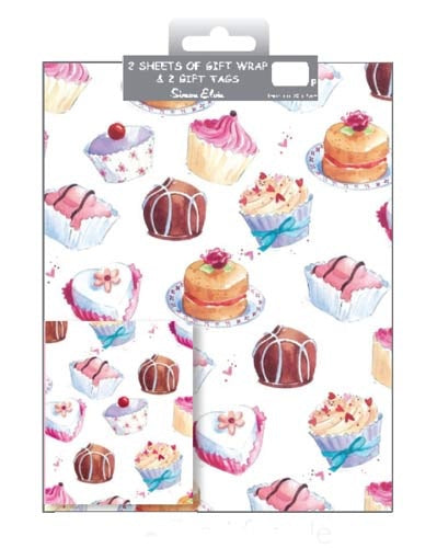 Cupcakes Gift Wrap And Tag Set