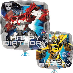 Transformers Double Sided Happy Birthday Helium Filled Foil Balloon
