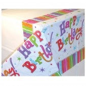Radiant Happy Birthday Plastic Tablecover