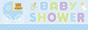 Blue Teddy Giant Baby Shower Banner