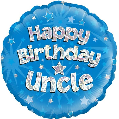 Happy Birthday Uncle Helium Filled Foil Balloon