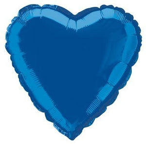 Royal Blue Heart Shape Helium Filled Foil Balloon