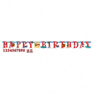 Pirate Add An Age Jumbo Letter Banner Kit