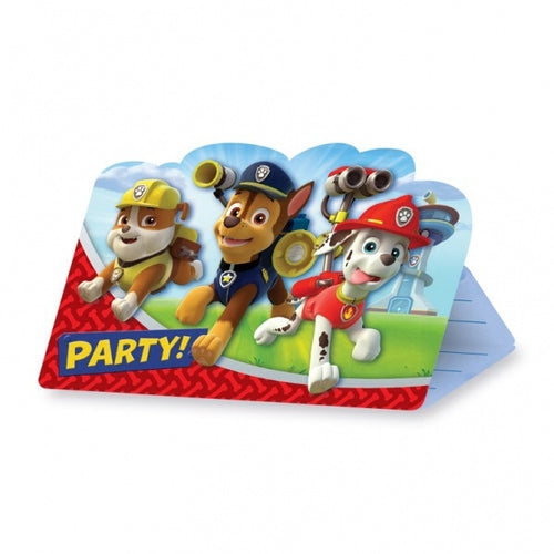 Paw Patrol Invitations And Envelopes (8 Pack)