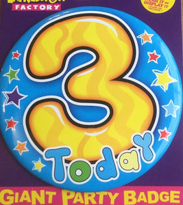 3 Today Blue Jumbo Badge