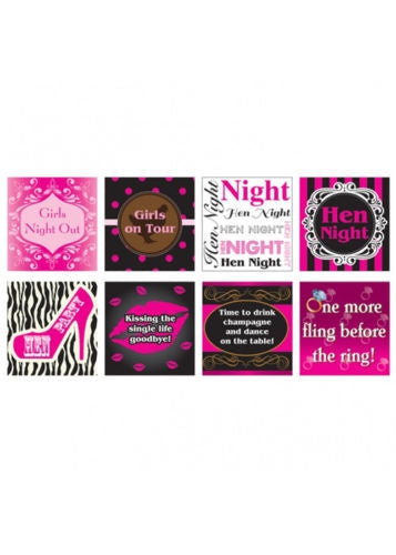 Hen Night Drink Bottle Labels