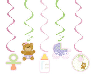 Pink Teddy Baby Shower Dizzy Danglers
