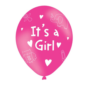 It's A Girl Latex Balloons (6 Pack)