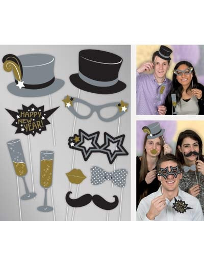 Jazzy New Year Photo Props (10 Pieces)