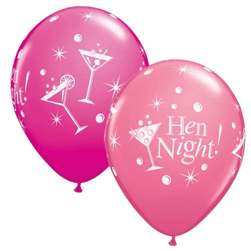 Hen Night Latex Balloons x10 (Sold loose)