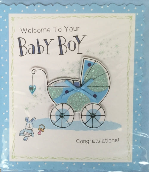 Welcome To Your Baby Boy Greeting Card