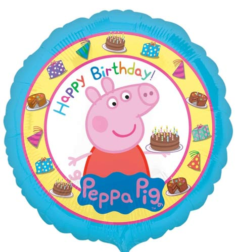 Peppa Pig Happy Birthday Helium Filled Foil Balloon