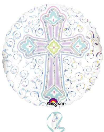 Radiant Cross Helium Filled Foil Balloon
