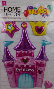 Princess Castle Wall Balloon Stickers