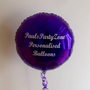 Personalised Single-Sided Helium Filled Foil Balloon