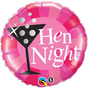 Hen Night Cocktail Glass Helium Filled Foil Balloon