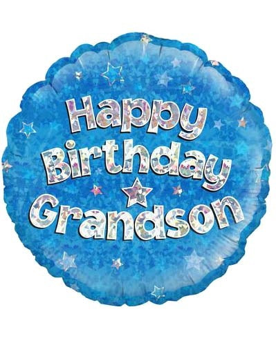 Happy Birthday Grandson Helium Filled Foil Balloon