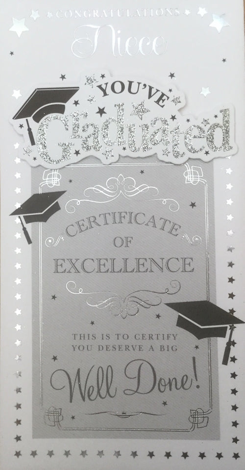 Congratulations Niece You've Graduated Greeting Card