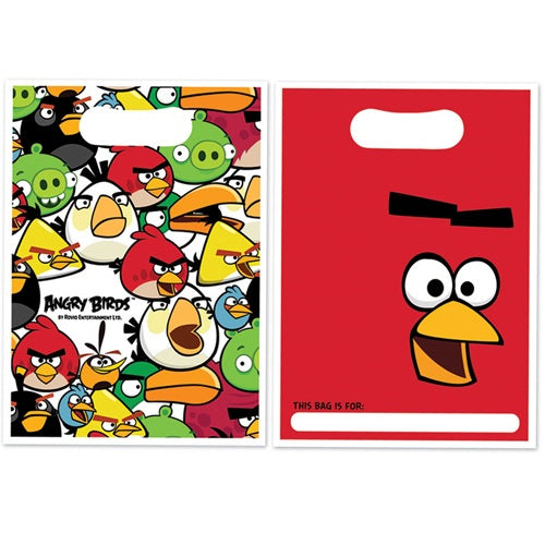 Angry Birds Party Loot Bags x8
