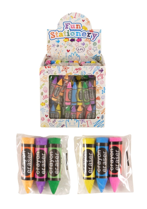 Crayon Eraser x3 In Sealed Packet