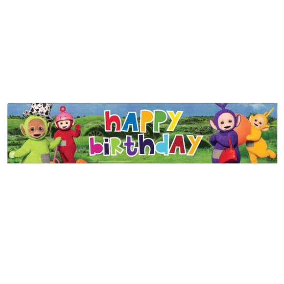 Teletubbies Happy Birthday Foil Banner