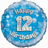 Blue Birthday Air Filled Table Decoration Available In Children's Ages From 1-21 And Happy Birthday
