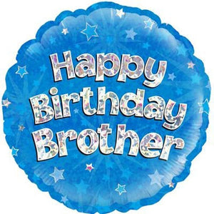 Happy Birthday Brother Helium Filled Foil Balloon