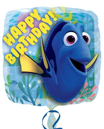 Finding Dory Happy Birthday Helium Filled Foil Balloon