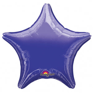 Metallic Purple Star Shape Helium Filled Foil Balloon