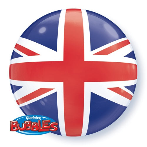 Union Jack Helium Filled Single Bubble Balloon