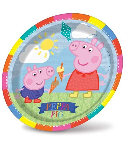 Peppa Pig Paper Party Plates x8