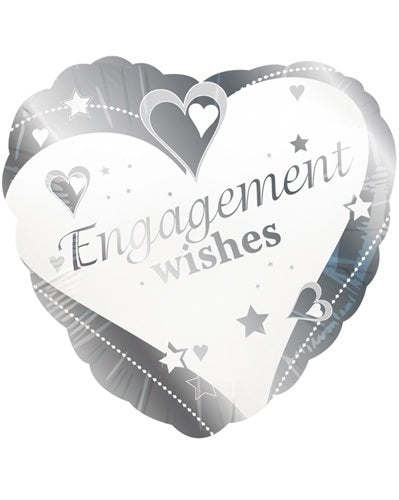 Engagement Wishes Helium Filled Foil Balloon