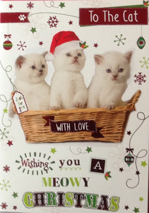 To The Cat Meowy Christmas Greeting Card