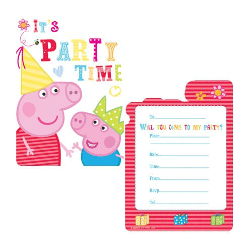 Peppa Pig Invitations And Envelopes (6 Pack)