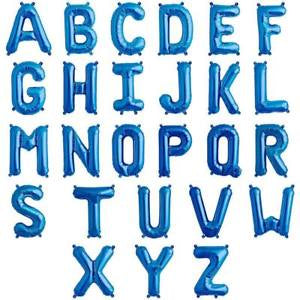 "Blue 16"" Air Fill Letter & Symbol Foil Balloon"