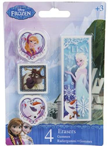 Disney Frozen 4 Piece Eraser Set