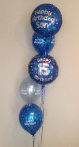 "5 Balloon Cluster Consisting Of 2 x 18"" Printed Foil Balloons And 3 x Latex Balloons"