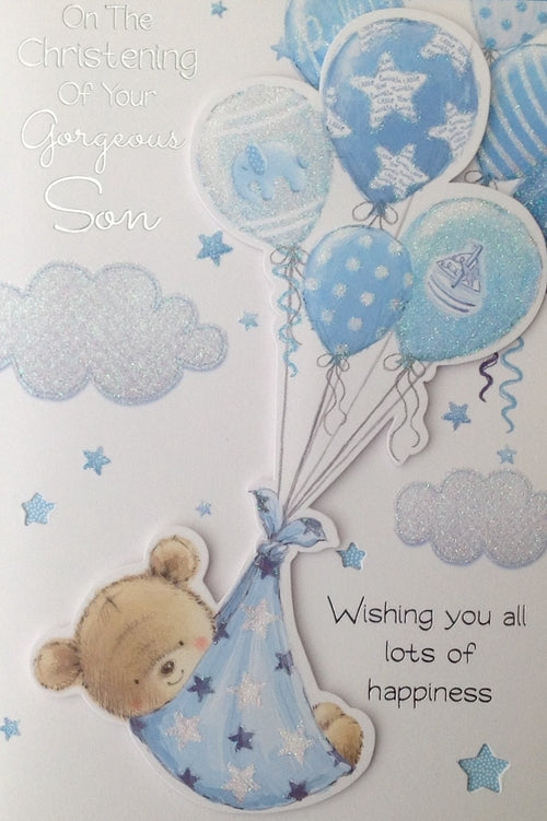 On The Christening Of Your Gorgeous Son Greeting Card