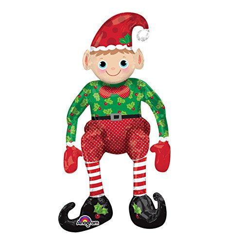 Sitting Elf Air Fill Supershape Foil Balloon