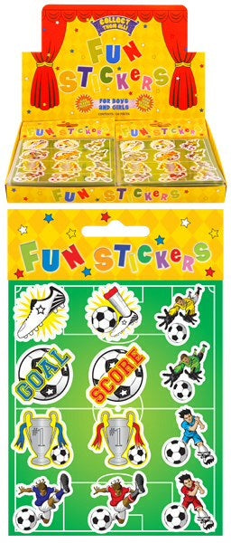 Football Stickers (1 Sheet In A Sealed Packet)