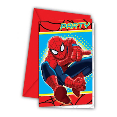 Spiderman Invitations And Envelopes (6 Pack)