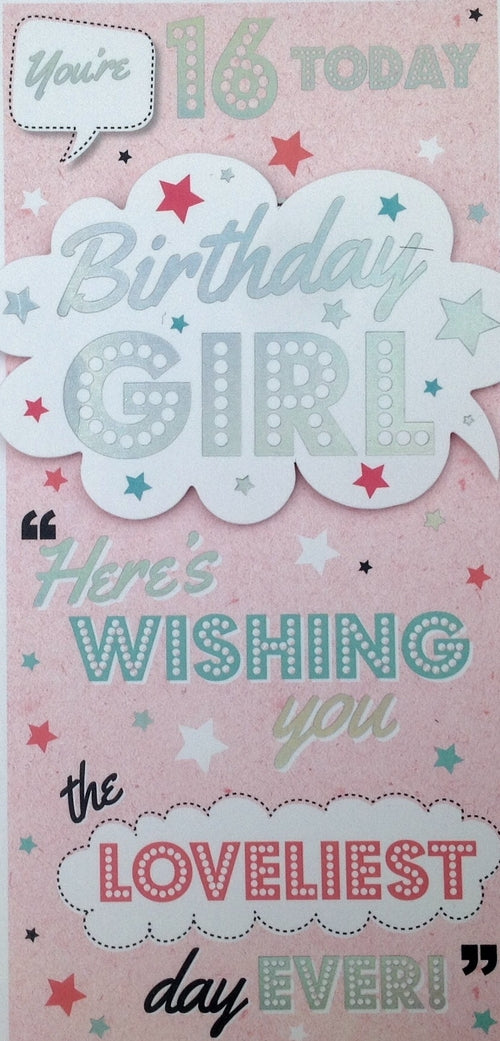You're 16 Today Greeting Card