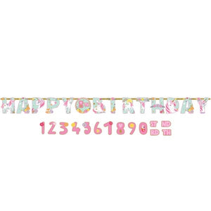 Magical Unicorn Add An Age Jumbo Letter Banner Kit
