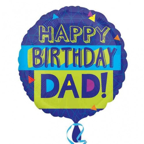 Happy Birthday Dad Helium Filled Foil Balloon