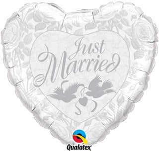 Just Married Helium Filled Foil Balloon