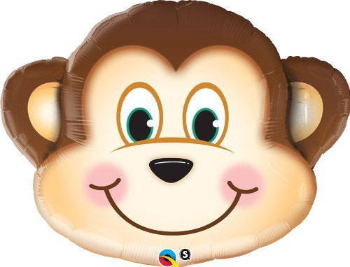 Monkey Supershape Helium Filled Foil Balloon