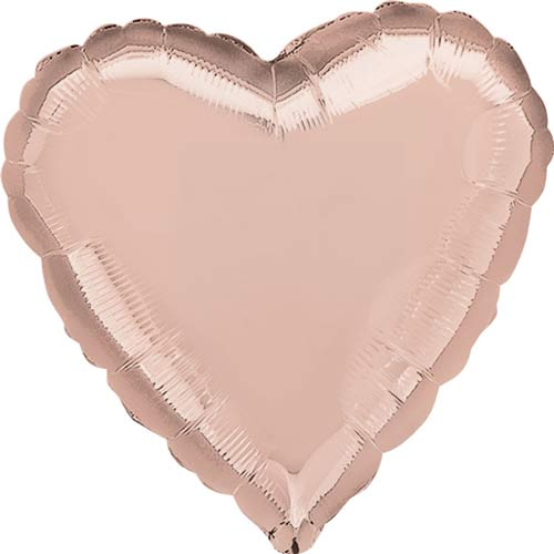 Rose Gold Heart Shape Helium Filled Foil Balloon