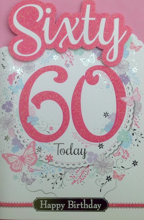 Sixty Today Birthday Greeting Card