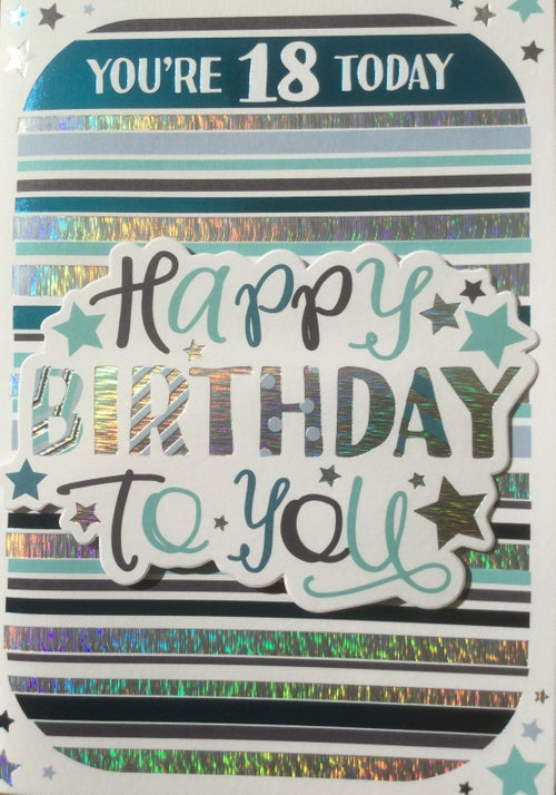 You're 18 Today Greeting Card
